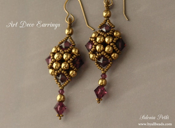 beading simple how earrings home at pattern articles free spiral to beaded make
