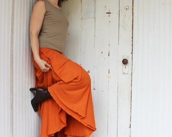 READY TO SHIP - Hemp and Organic Cotton Full Length Wrap Skirt - Size S/M/L - Three Colors to Choose From - Organic Clothing - Eco Fashion