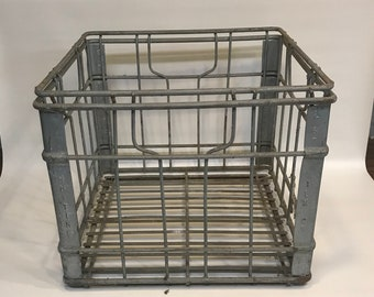 Metal Milk Crate, Whiting Milk   2 67