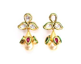 Isha Gold Kundan Earrings