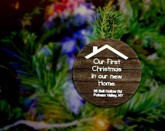 First Home Ornament First Home Christmas Ornament Rustic Our First Home Ornament First Christmas In Our New Home Ornament Our First Home