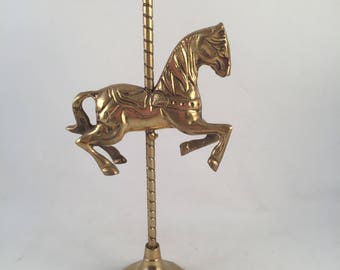 Solid Brass Carousel Horse, Vintage, Detailed, Great Condition