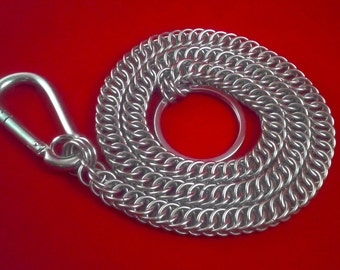 Wallet Chain: Chainmaille Half Persian 4 in 1 Weave In Solid Stainless Steel.
