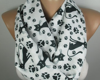 Cat Scarf Cat Lover Gift Animal Scarf Cat Owner Gift Pet Accessories Infinity Scarf Pet Lover Gift Women Accessories Gift For Her For Mom