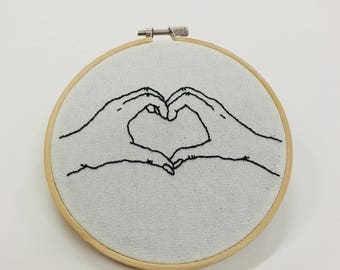 Hands in a Heart Embroidery