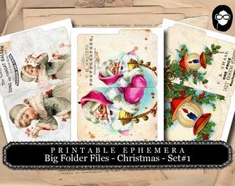 Christmas Clipart - Big Folder Files - Christmas #1 - 3 Pg Instant Download - clipart christmas, clip art christmas, tsunamirose