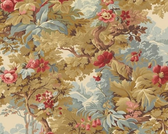 LARISA Collection Antique Gold Floral Yardage by Mary Koval for Windham Fabrics #50066-X 100% Cotton