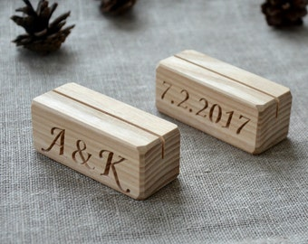 20 Personalized Wood Table Number Holders for Wedding and Party, Custom Rustic Table Number Holder, Restaurant Table Number Holder