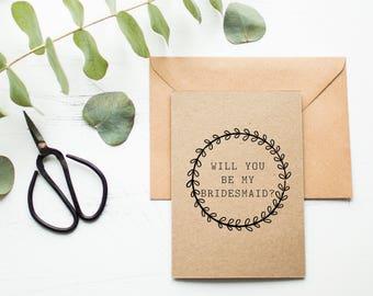 Rustic Bridesmaid Card - Bridesmaid Proposal - Will You Be My Bridesmaid