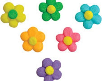 45 pcs  Lovely Flower Power Flowers  Assorted Colors       Simply Darling