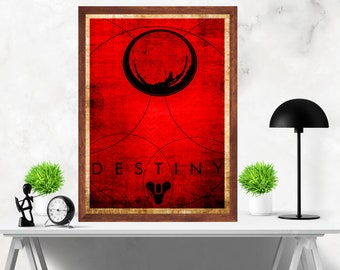 Destiny Minimalist Alternative  Video Game Print Poster