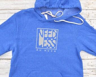 DO MORE, Eco-friendly Fleece Hoodie for Men, Graphic Hoodies for Women, Womens Hoodie, Mens Hoodie Soft Hoodies