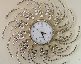 Fancy Crystal Wall Clock