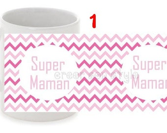 "Personalized mug ""super MOM"" mother's day gift"