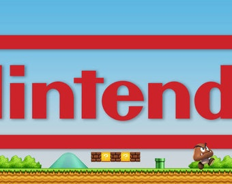 Nintendo Mario Brothers Arcade Marquee For Header/Backlit Sign