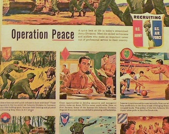 1949 Army Air Force Ad Matted Vintage Print