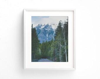 "mountain landscape, glacier park landscapes, large wall art, large art, landscape photography, travel, roads, wilderness - ""Glacier Roads"""