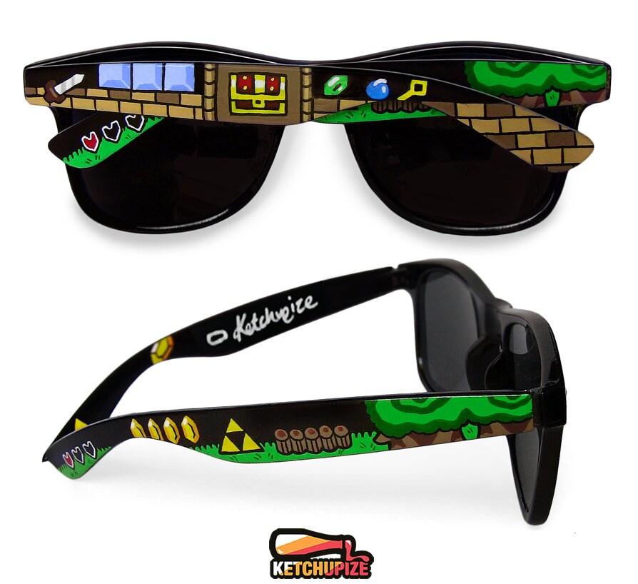 Legend of Zelda custom sunglasses unique video game gift
