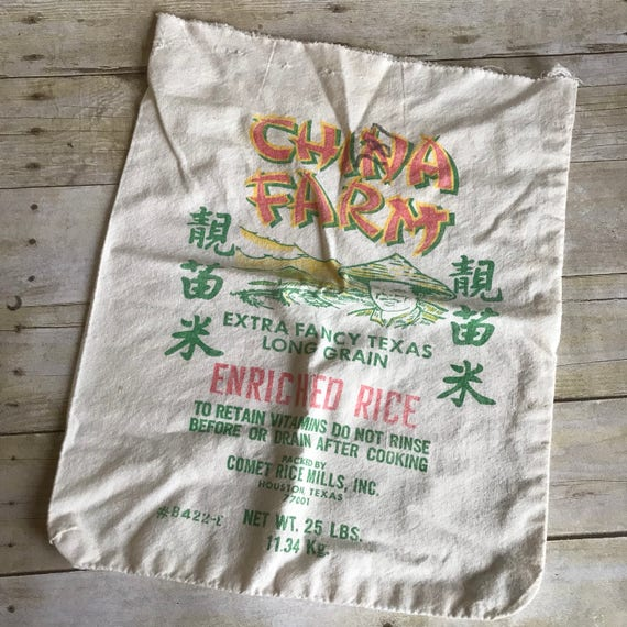 Vintage Rice Bag Sack