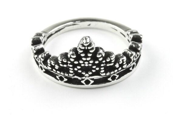 Sterling Silver Crown Ring, Royal Highness Ring, Royalty Ring, Queen Ring, King, Boho Ring, Gypsy Ring