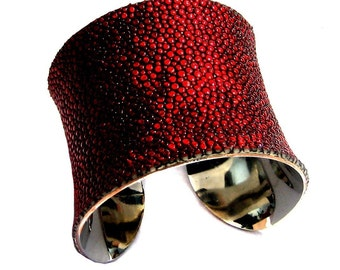Red Metallic Stingray Cuff Bracelet - by UNEARTHED