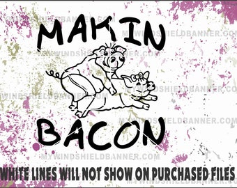 makin bacon pig vector files svg cdr eps pdf png dxf use for decals crafts tshirts vinyl cutting cutter
