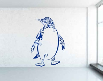 Penguin Pattern. Vinyl wall art decal sticker. Any colour and size.