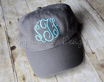 Custom monogrammed cap. Embroidered hat.