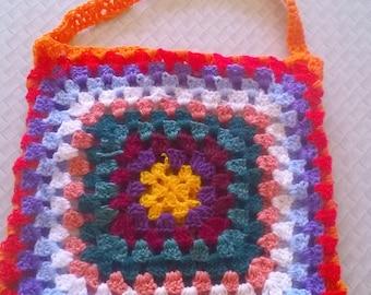 Granny square tote bag
