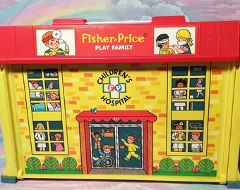 Vintage Fisher Price Play Family Childrens Hospital
