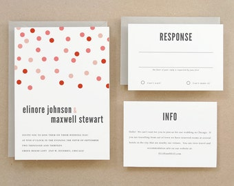 Printable Wedding Invitation Template | INSTANT DOWNLOAD | Confetti | Word or Pages | Easy DIY | Editable Artwork Colors