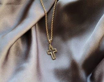 TC2 Cross 14K Gold Plated Necklace - Gold Chain Necklace - Gold Necklace - Cross Necklace - Crucifix Necklace - Religious Necklace