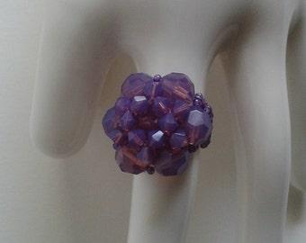 """Crystal Ring """" Cyclamen """""""