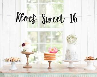 Sweet Sixteen banner   16th birthday banner   16th birthday decorations   16th birthday party   birthday decorations   birthday party