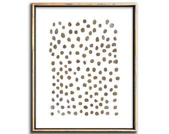 Minimalist Poster, Sepia Prints, Downloadable Prints, Bronze Wall Art, Modern Minimalist Art Print, Abstract Dots, Circle, Prints, Wall Art