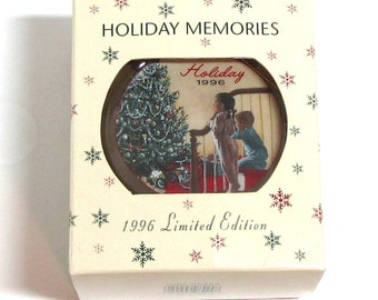 Holiday Memories 1996 Limited Edition Christmas Ornament Replica From Sears 1956 Wish book