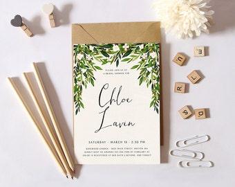 Printable Bridal Shower Invitation Vintage Floral Invitation