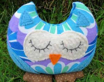 Owl shelf sitter.  Sale owl.  Floral Owl.  Owl Decor.