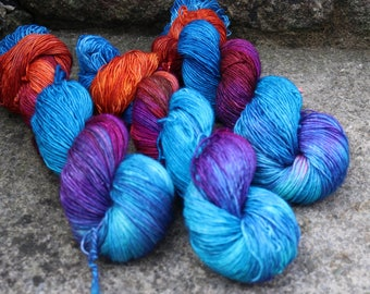 Bollywood - Hand Dyed Indian Inspired Sock Yarn - 100g + 20g - Full and Mini Skeins