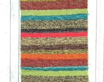 Colourful Door mat. Kitchen rug, rug, Bathroom rug, Rag rug,  Rainbow rug, Cotton rug, Laundry room decor, Bath mat, 2x4 rug