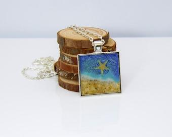 Starfish and Sand Ocean Scene