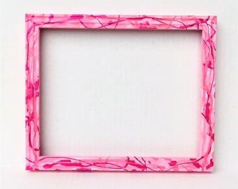 Pink Picture Frame, Wall Decor, Wall Photo Frame, Girls Room Decor, Pictures, Frames, Shabby Chic Frame, Wooden Frame, Gift for Her, Pink