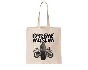Extreme Muslim Tote bag - screenprinted