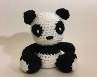 Panda Crochet Amigurumi Plushie - Style 2