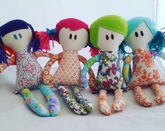 Handmade doll, rag doll, birthday gift for girl, bedroom decor, nursery decor, baby shower