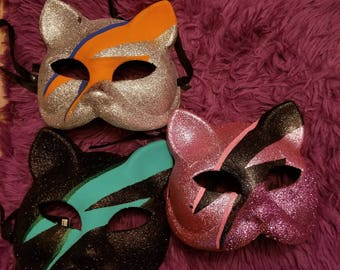 David Bowie, Bowie, Cat mask, Cat, Kitty, Cat lady, Bowie inspired, Ziggy Stardust, Masquerade, Masquerade ball