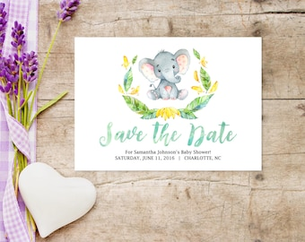 Printable Baby Shower SAVE THE DATE ...