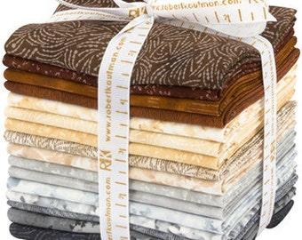 Great Deals Courtyard Textures Bundle Studio RK Natural Colorstory Fat Quarter bundle for Robert Kaufman fabric