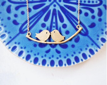 Love Bird Necklace, Gold Bird Necklace, Gold Love Necklace, Love Necklace Gold, Bird Necklace Gold, Bird Gold Necklace