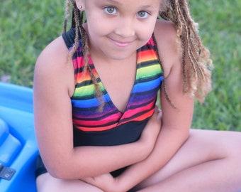 Kids Corner Swimsuit PDF Sewing Pattern  swimsuit, bikini, tankini, swimming, one piece, maternity, plus size